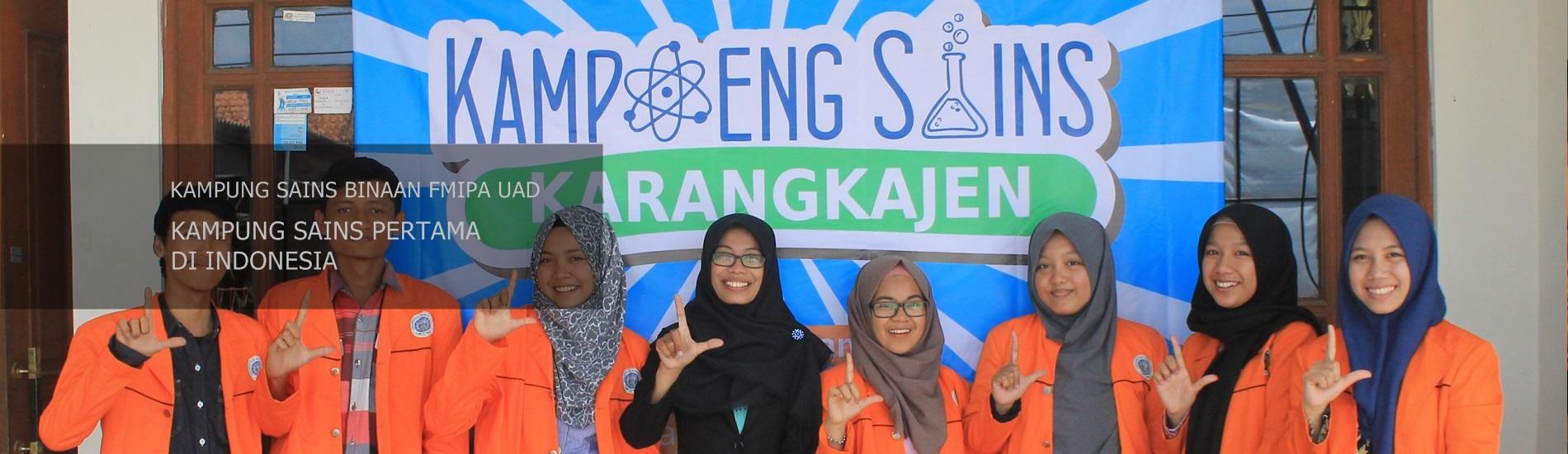 Slider Kampung Sains Binaan FMIPA UAD Pertama di Indonesia
